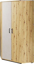 Armoire d'angle QUBIC pour chambre - Chêne