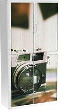Armoire de bureau métalique porte coulissante h