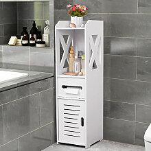 Armoire de salle de bain moderne blanche, armoire,