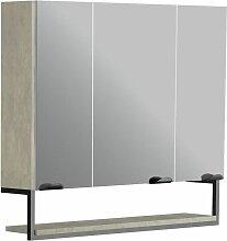 Armoire de toilette 80 cm Faktory couleur béton