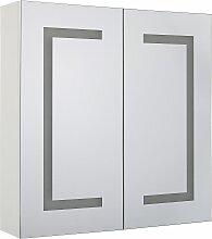 Armoire de toilette blanche avec miroir LED 60 x