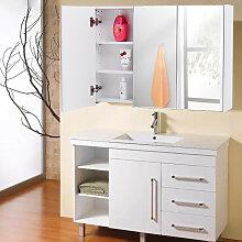 Armoire de toilette/salle de bain à miroir murale