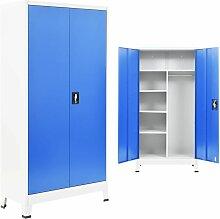 Armoire de vestiaire 2 portes Metal 90x40x180 cm