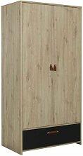 Armoire enfant - 2 portes et 1 tiroir - Decor