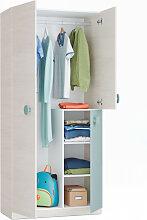 Armoire enfant CYANN 3 portes L90x H200cm - Blanc