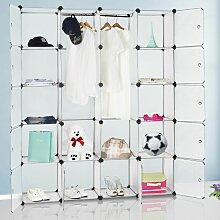 Armoire étagère modulable en plastique blanc 12