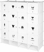 ®Armoire étagère modulable en plastique blanc