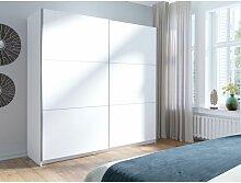Armoire, garde robe ARSALA blanche 200 cm deux