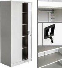 Armoire métallique étagère meuble 5 niveaux