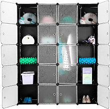 Armoire Penderie 20 Cubes Modulable Meuble