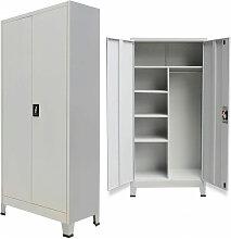 Armoire verrouillable avec 2 portes Acier 90 x 40