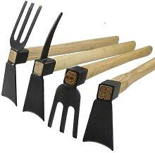 Arracheur de houe à manche en bois, outil