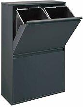 ARREGUI Basic CR604-B Recyclage en Acier, Poubelle