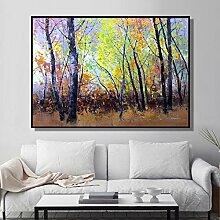 Art abstrait plante arbresur toile