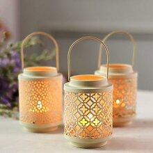 Art de fer couleur unie bougeoir Vintage lanterne