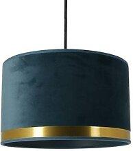 ART DECO-Suspension cylindre en Velours Ø29cm