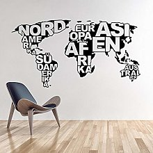 Art Design Carte Du Monde Vinyle Stickers Muraux