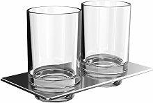 art porte-verre double, y compris verres en