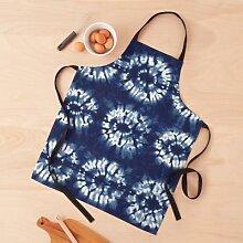 Art textile teint à l'indigo Shibori Tablier