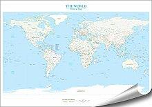 ARTBAY Le Monde - Carte du Monde Politique -