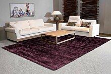 Arte Espina Tapis Shaggy uni Violet 120 x 170 cm