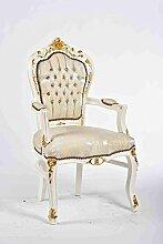arterameeferro Fauteuil baroque de luxe en bois