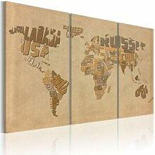 Artgeist 120x80 - Tableau - Ancienne carte du