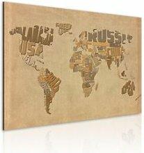 Artgeist 90x60 - Tableau - Ancienne carte du monde