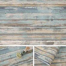 Arthome Blue Distressed Wood Paper 43.5x305cm