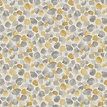 Paillettes Willow papier peint ocre gris blanc Arbres Feuilles Brillant en Relief Arthouse
