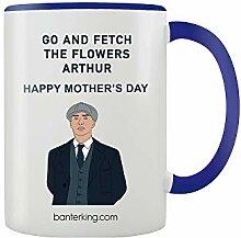 Arthur Get The Flowers Mug bicolore Bleu 325 ml