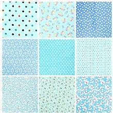 Artibetter 9 Pcs Tissu Bundle Carrés Coton Floral