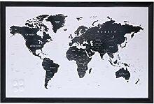 ArtiCasa Tableau magnétique motif carte du monde