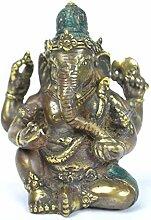 Artisanal Statuette Ganesh en Bronze Massif. Déco