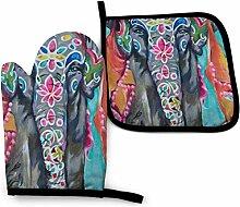 Artisti Elephant Mermaid Petits Poissons Imprimés