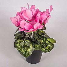 artplants.de Cyclamen Artificiel en Pot, Rose