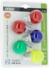 ARUM LIGHTING Lot de 5 Ampoules B22 Blister