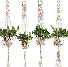 arumedo Suspension Plante Macramé, 4 pièce