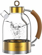 ASCOT Bouilloire électrique en verre 2200 W, 1,6