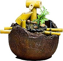 Asdasd Décoration de Fontaine en Bambou de Bureau