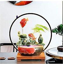 Asdasd Fontaine de Table Creative Céramique Fish