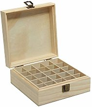 Asdomo Boîte de rangement en bois avec 25
