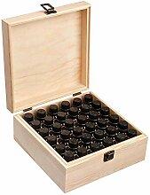 Asdomo Boîte de rangement en bois avec 36