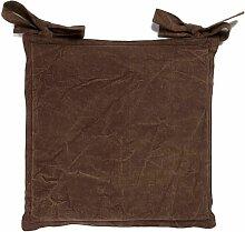 ASIA - Galette de chaise en coton moka 45x45 -