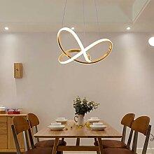 Asncnxdore Golden LED Lustre De Mode Villa Hôtel