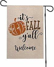 ASR Bannière de jardin pour Halloween Fanion de