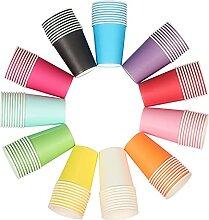 asse 11 couleurs coloré vaisselle jetable papier