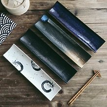 Assiette à Sushi rectangulaire en céramique,