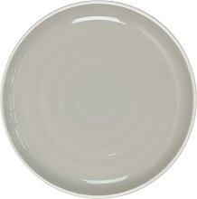 Assiette Bicolore Grise 20cm Art de la Table