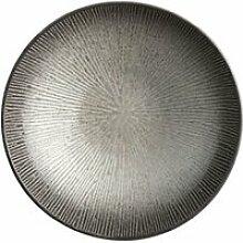 Assiette creuse atelier - céramique - gris